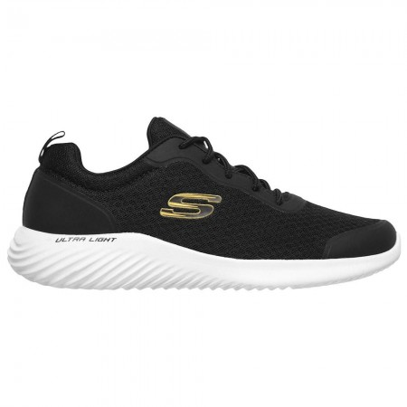 Skechers Bounder Men's Shoes Μαύρο Χρυσό